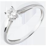 mariage Bague de fiançailles Solitaire or blanc Roseau - 0.25 carat