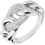 acheter on line Bague Force d'Aimer - or blanc 18 carats
