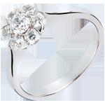 cadeau Bague Fraicheur - Magnolia - or blanc 18 carats - 0.88 carat - 7 diamants