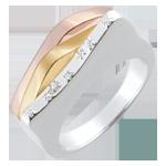 mariage Bague Genèse - Lignes originelles - trois ors 18 carats