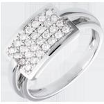 femme Bague insigne pavée - or blanc - 0.36 carats - 28 diamants