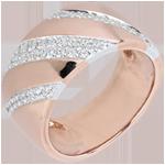bijou Bague Intense - or rose, or blanc et diamants