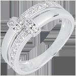 Bague istria or blanc 18 carats et diamants