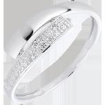 Bague Lumière or blanc 18 carats diamants