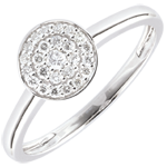 Bague Ma Constellation or blanc 18 carats - 0.16 carat
