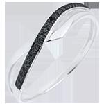 acheter en ligne Bague Marina or blanc et diamant noir