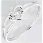 cadeau Bague Mon Amour - or blanc, diamant