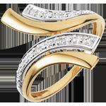 acheter en ligne Bague Nefertiti or jaune - 5 diamants