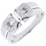 Bague Noeud Corset or blanc 18 carats