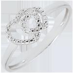 femme Bague or blanc et diamants - Coeurs Complices