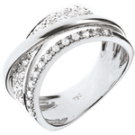 bijou or Bague Royale Saturne variation - or blanc