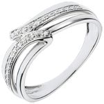 Bague Serenity or blanc 18 carats - 6 diamants