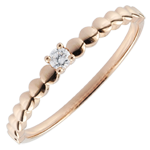 Bague Solitaire Bonbons d'or or rose 9 carats