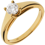 cadeau femmes Bague solitaire Diadème or jaune - 0.47 carat