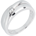 mariages Bague solitaire diamant Hestia or blanc
