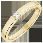 bijoux or Bague Solitaire Epure - diamant Princesse 0.08 carats