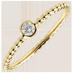 achat on line Bague Solitaire Fleur de Sel - un anneau - or jaune - 0.08 carat - 18 carats
