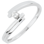 mariage Bague Solitaire Nid Précieux - Amour Toujours - or blanc - 18 carats