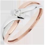cadeaux Bague Solitaire Nid Précieux - Lumière - diamant 0.05 carat - 18 carats