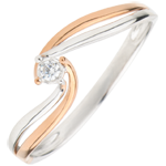 joaillerie Bague Solitaire Nid Précieux - Précieuse - or rose, or blanc - 0.03 carat - 9 carats