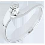 Bague solitaire Passion éternelle or blanc 9 carats - 0.24 carats