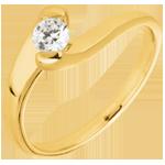 Bague solitaire Passion éternelle or jaune 18 carats - 0.24 carats