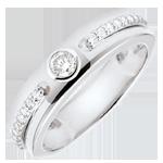 ventes Bague Solitaire Promesse - or blanc et diamants - 18 carats