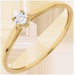 cadeaux femme Bague Solitaire Roseau - 0.03 carat