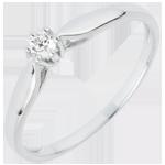 bijoux or Bague Solitaire Roseau - 6 griffes - 0.07 carat - 18 carats