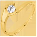 Bague solitaire Soir d'été or jaune 18 carats - 0.22 carats