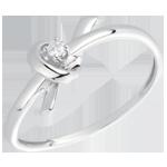 mariage Bague Souvenir or blanc et diamant