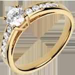 cadeau Bague sur mesure 30071 - solitaire diamant 0.5 carat
