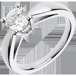 Bague sur mesure 30096 - Solitaire Diamant Or blanc 1 carat