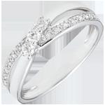 vente en ligne Bague Trilogie Nid Précieux - Auréa - or blanc - 0.18 carat - 18 carats