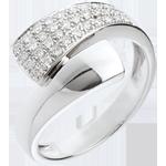 bijouteries Bague tropique or blanc 18 carats pavée - 0.26 carats - 34 diamants