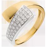 mariages Bague tropique or jaune pavée - 0.26 carats - 34 diamants