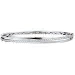 gift women Bangel Bracelet Saturn Diamonds - white gold - 18 carats