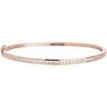Bangle Bracalet Little Diamond Bar - Pink gold - 0.75 carat - 25 diamonds