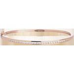 Bangle Bracalet Little Diamond Bar - Pink gold - 0.75 carat - 25 diamonds