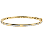 Bangle Bracelet Promise - yellow gold and diamonds - 18 carats