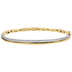 Bangle Elegantie - geel goud, wit goud en diamanten - 9 karaat