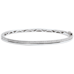 Bangle Elegantie - witgoud met diamanten - 9 karaat goud