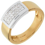 gifts woman Belted ring yellow gold-white gold