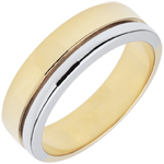 gold jewelry Bi-colour Gold Diamond Olympia Wedding Band - Large Model
