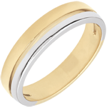 gifts Bi-colour Gold Olympia Wedding Band - Small Model