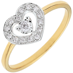 gifts women Bi-colour Gold Tiphanie Heart Ring - 18 carats