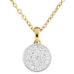 Bi-colour My Constellation Necklace - 0.163 carat - 18 carats