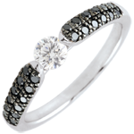 gold jewelry Black Diamond Triumphal Solitaire Ring - 0.25 carat - 18 carats
