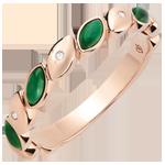 Blissful Alliance - Malchite & diamonds - 9 carat pink gold