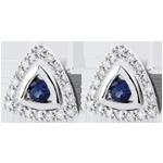 gift women Blue Sapphire Salma Earrings